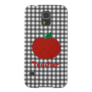 Stylish Teacher's Checkered Apple Case For Galaxy S5