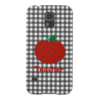 Stylish Teacher's Checkered Apple Galaxy S5 Covers