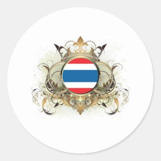 Stylish Thailand Round Sticker