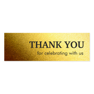 Stylish Thank you favor tag - Shiny Gold Glitter Pack Of Skinny Business Cards