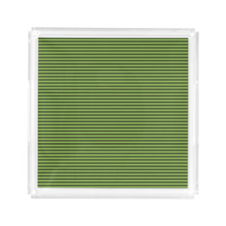 Stylish Thin Greenery Stripes Design Acrylic Tray