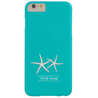 Stylish Tiffany Blue Starfish Barely There iPhone 6 Plus Case
