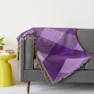 Stylish-Town & Country-Purple-Multi Throw Blanket