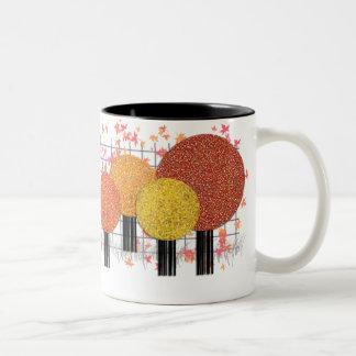 Stylish Trees And Leaves Collector Mug