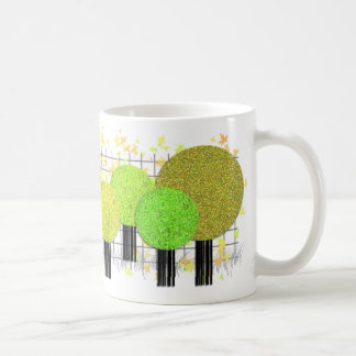 Stylish Trees And Leaves Collector Mug Summer