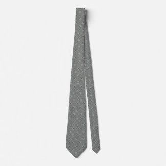 Stylish Trendy Blue and Grey Mosaic Diamonds Tie