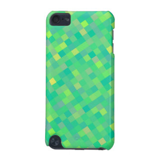 Stylish Trendy Green/Yellow Pixel Mosaic Pattern iPod Touch (5th Generation) Cases