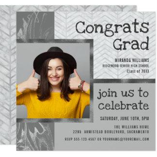 Stylish Trendy Photo Template Graduation Party