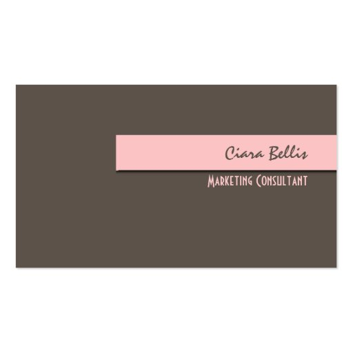 Stylish trendy retro colors business cards