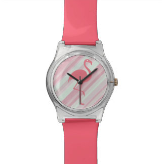 Stylish Tropical Flamingo Wrist Watch