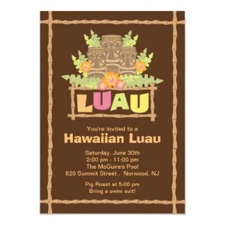 Stylish Tropical Hawaiian Luau Party Card