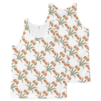 Stylish Tulip Flowers Floral Pattern Summer Design All-Over Print Tank Top