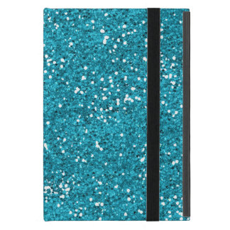 Stylish Turquoise Blue Glitter iPad Mini Cover