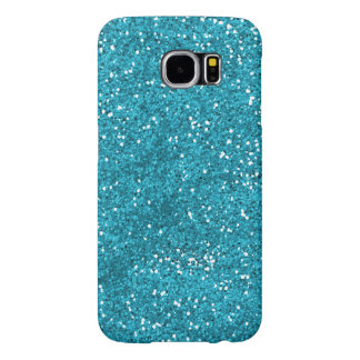 Stylish Turquoise Blue Glitter Samsung Galaxy S6 Cases