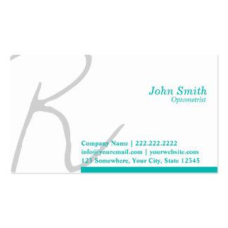 Stylish Typography Optometrist Business Card