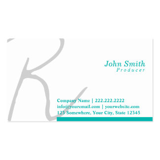 Stylish Typography Producer Business Card
