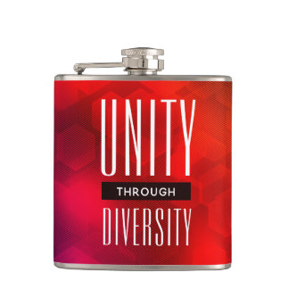 Stylish Unity Through Diversity Hip Flask