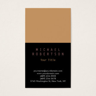 Stylish Vertical Plain Simple Business Card