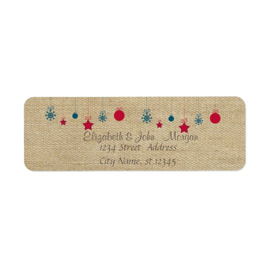 Stylish,Vintage,Christmas Balls Return Address Label