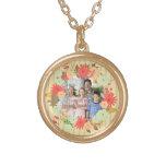 Stylish vintage look floral photo frame