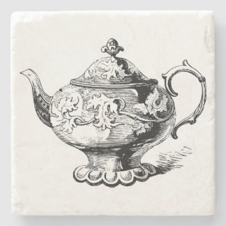 Stylish Vintage Teapot Stone Coaster