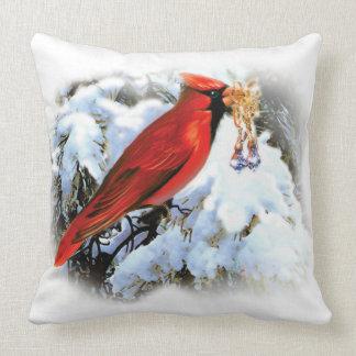 Stylish Vintage White Christmas Throw Pillow