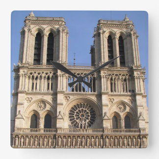 Stylish Wall Clock with Notre Dame de Paris