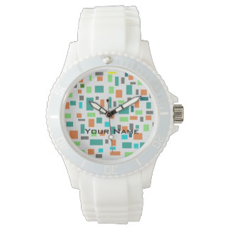 Stylish watch with colorful dial