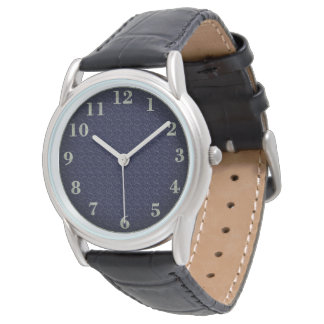 Stylish Watches_Unisex_Navy Cloth & Pewter(c) Watch