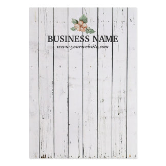 Stylish Weathered White Wood Stripes Earring Cards Pack Of Chubby Business Cards