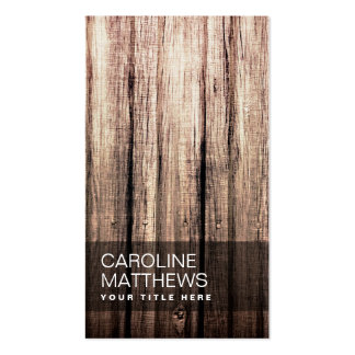 Stylish weathered wood grain professional profile pack of standard business cards