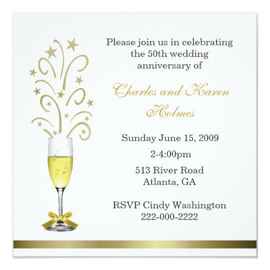 Stylish Wedding Anniversary Party Invitation