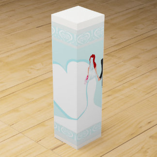 stylish wedding Wine Gift Box