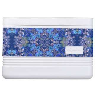 Stylish whimsical lux floral watercolor pattern cooler