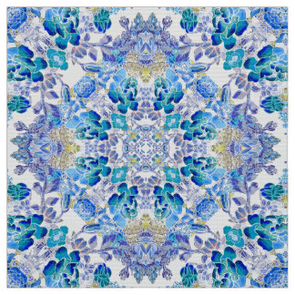Stylish whimsical lux floral watercolor pattern fabric