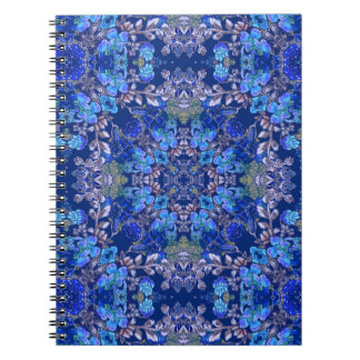 Stylish whimsical lux floral watercolor pattern notebook