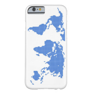 Stylish White and Blue World Map Phone Case Barely There iPhone 6 Case