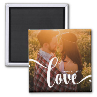 Stylish White Overlay | Love with Photo Magnet