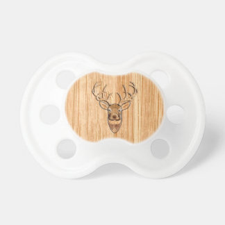 Stylish White Tail Deer Head Wood Grain Print Dummy