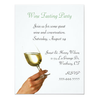 Stylish Wine Tasting Party Invitation