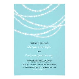 Stylish Winter Sparkles Glow Wedding 2in1 Invite Invite