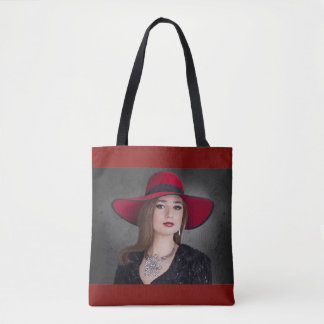 Stylish Woman All-Over Tote Bag