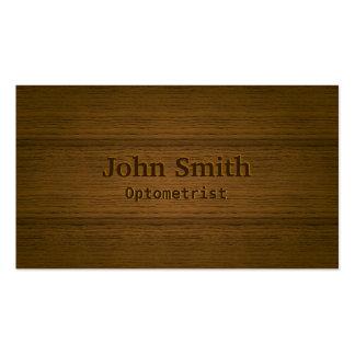 Stylish Wood Embossing Optometrist Business Card