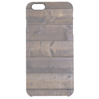 Stylish Wood Look - Nature Wood Grain Texture Clear iPhone 6 Plus Case