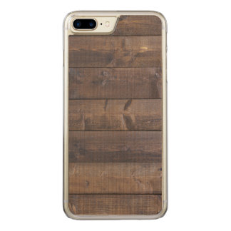 Stylish Wood Pattern - Nature Wood Grain Texture Carved iPhone 7 Plus Case