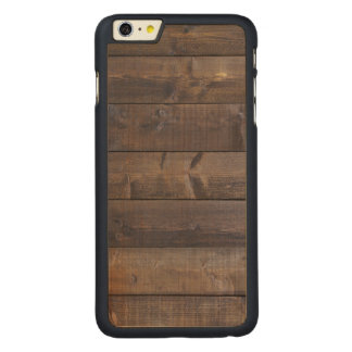 Stylish Wood Pattern - Nature Wood Grain Texture Carved Maple iPhone 6 Plus Case