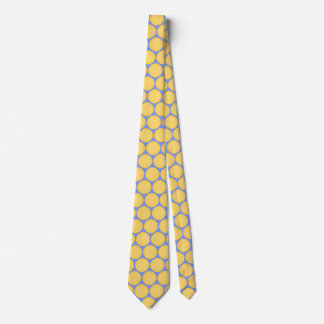 Stylish Yellow Blue Polka Dot Pattern Tie