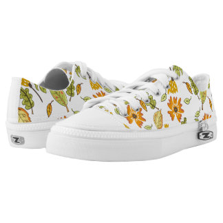 Stylish yellow floral pattern sneakers