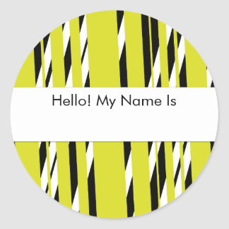 Stylish Yellow Stripped Sticker Sheet