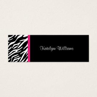 Stylish Zebra Print Appointment Card